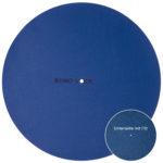 Turntable Mat Classic blue mit Filzunterlage
