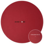 Turntable Mat Classic red mit Filzunterlage